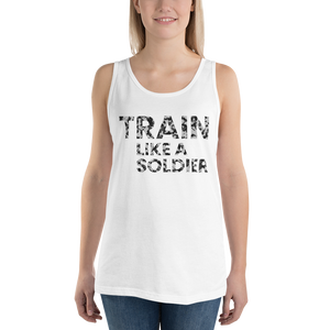 "Premium Tank-Top ""Train like a soldier"" - Heavyfit"