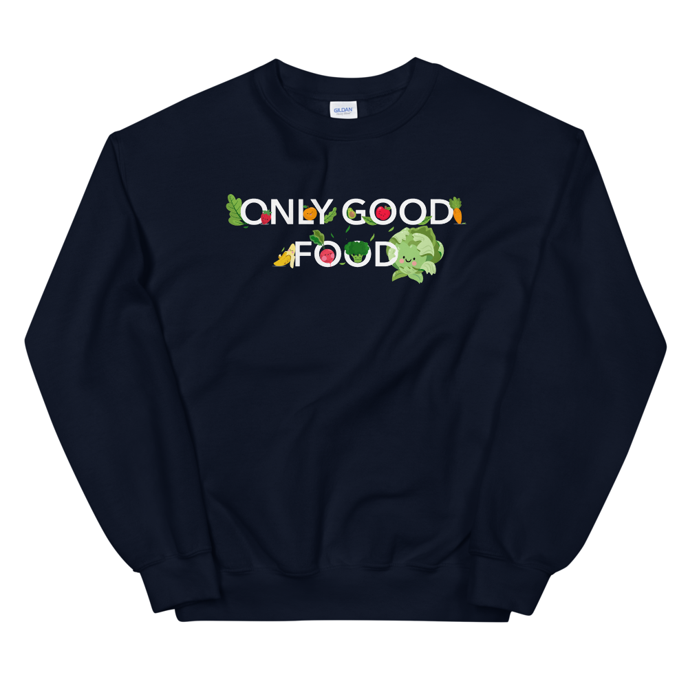 "Pullover ""Only good food"" - Heavyfit"