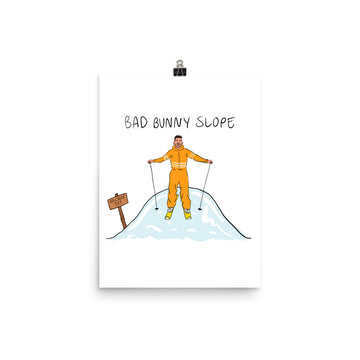Bad Bunny Slope Poster