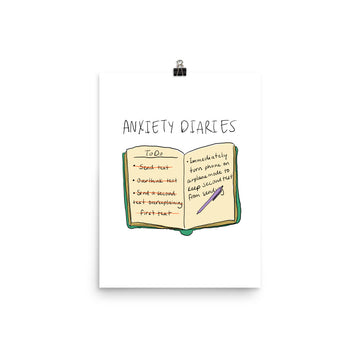 Anxiety Diaries - Text Poster