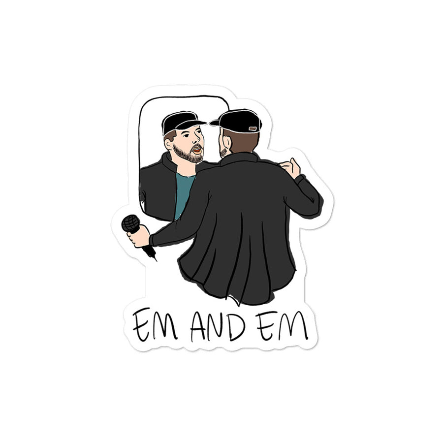 Em and Em Sticker