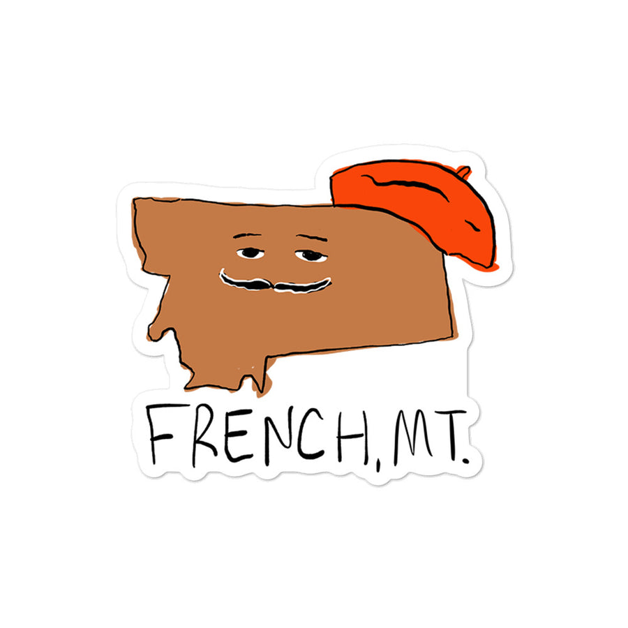 French, MT Sticker