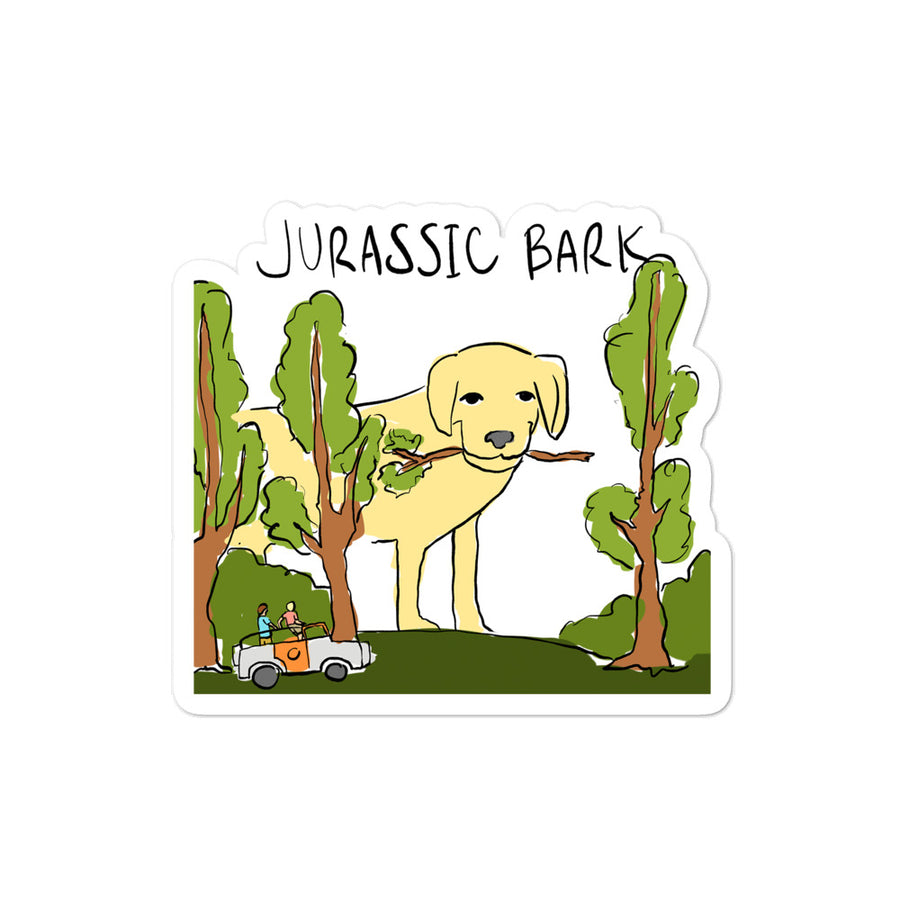 Jurassic Bark Sticker