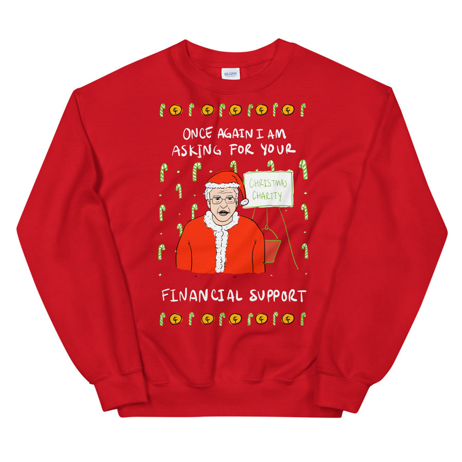 Financial Support Ugly Christmas Sweater