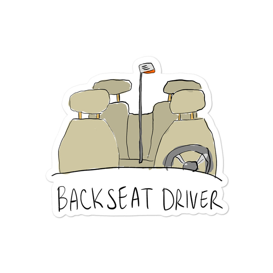 Backseat Driver Sticker