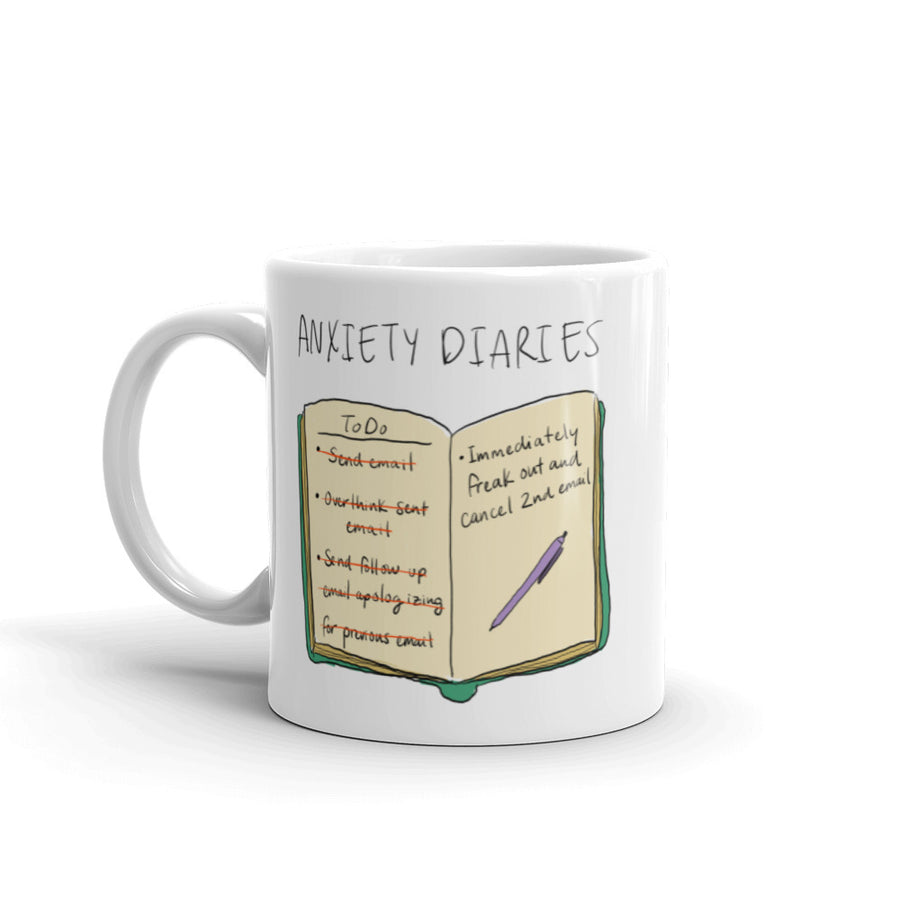 Anxiety Diaries - Email Mug