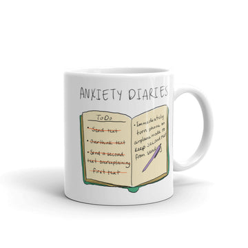 Anxiety Diaries - Text Mug