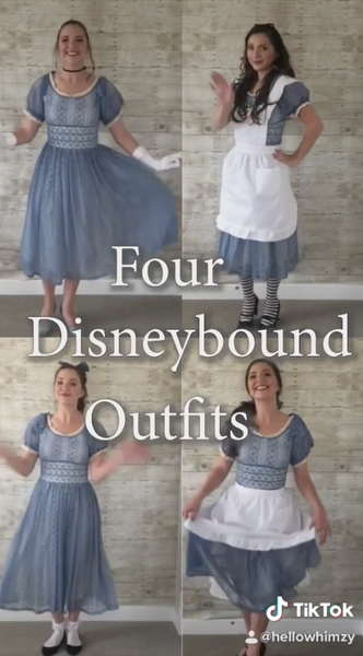 Four Disneybounds in ONE Dress