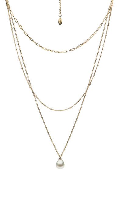 Alexandra 18k Yellow Gold Vermeil, South Sea Pearl Chain Necklace