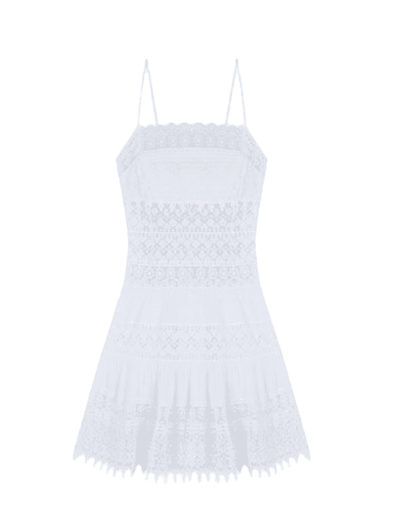 Joya Short White Cotton Dress
