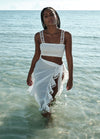 Spiagia White Crop Top