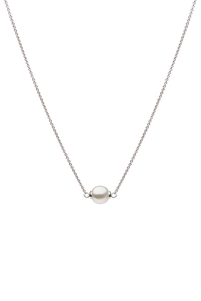 Olivia Sterling Silver, 10mm South Sea Pearl Necklace