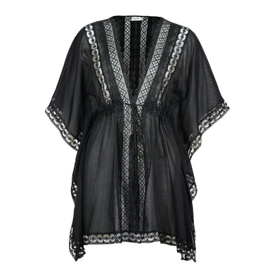 Kayla Black Cotton Kaftan