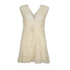 Jennifer Crotchet Mini Cream Dress