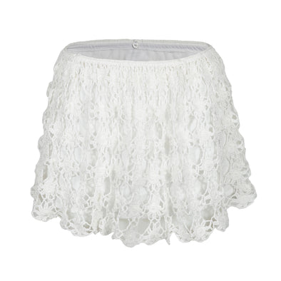 Bella White Short Skirt