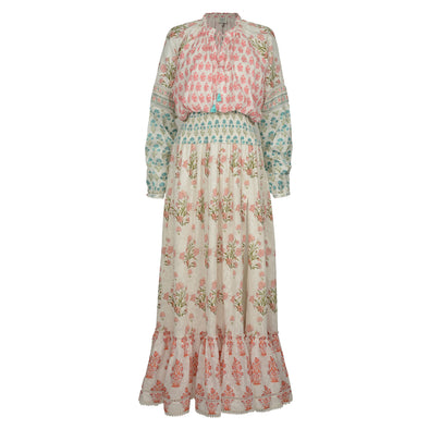 Cotton Paisley Long Dress