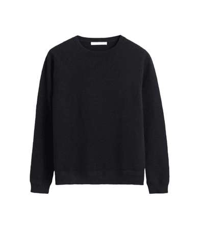 Black Cashmere Crew Sweater