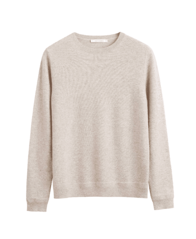 Oatmeal Cashmere Crew Sweater