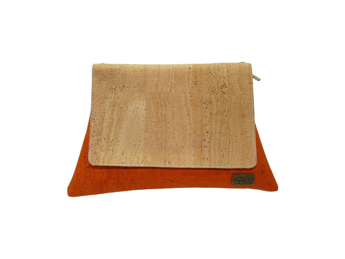 Cork Cross Body Bag / Envelope Handbag