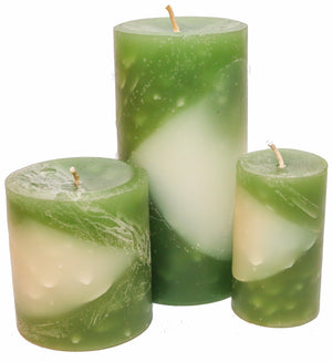 Cedar Sage Sandalwood Pillar Candles