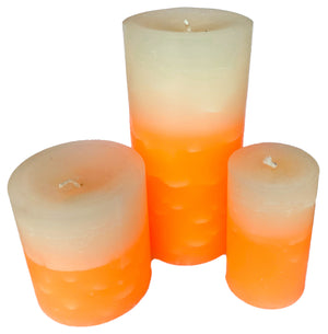 Champagne Sugar Pillar Candles