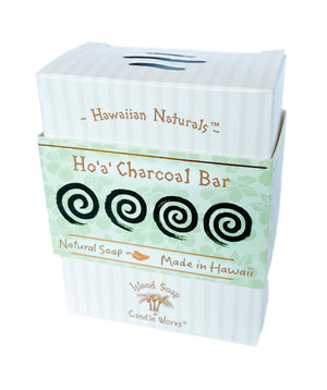 Ho'a' Charcoal Bar - 4.4 oz. Hawaiian Naturals Soap