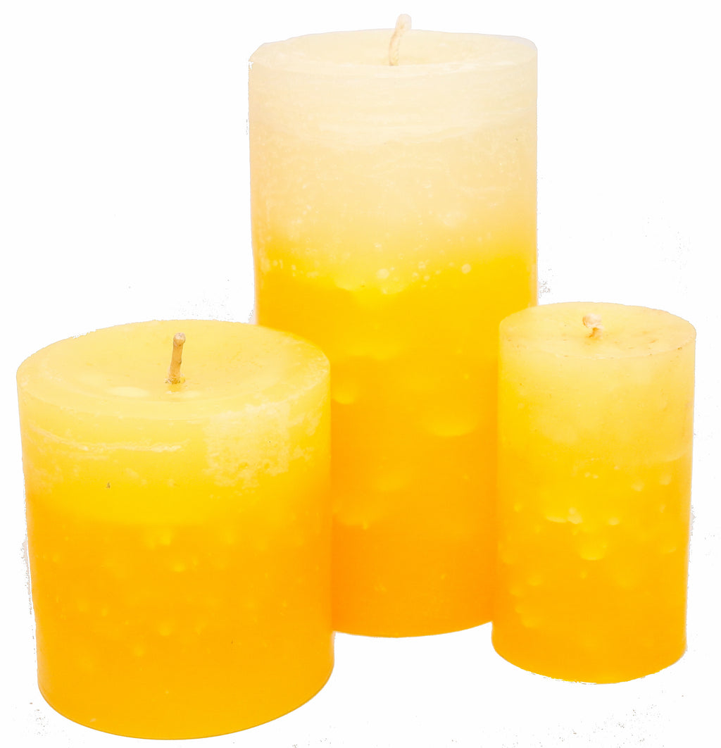 Mandarin Lemongrass Pillar Candles