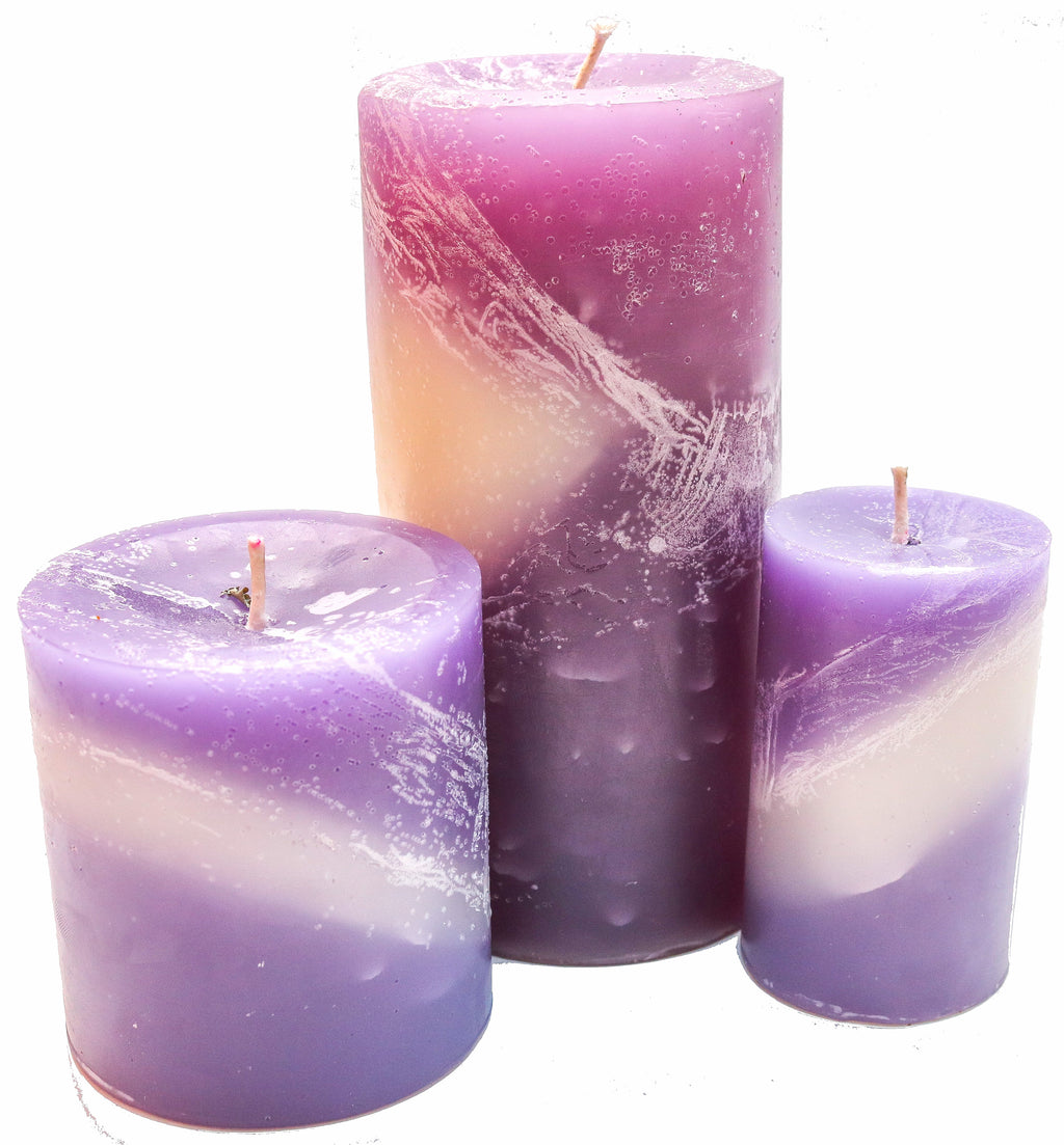 Orchid Pillar Candles