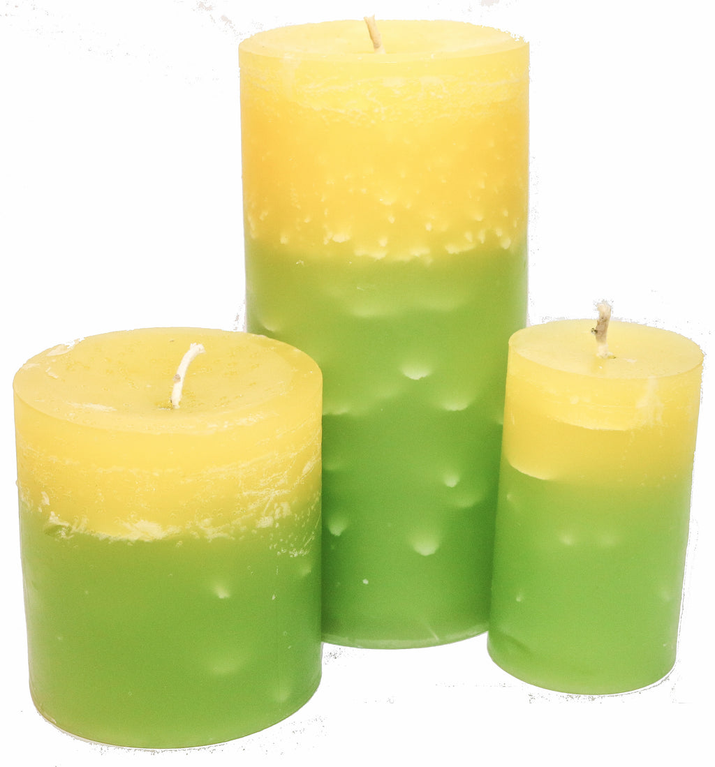 Lanikai Lemon Pillar Candles