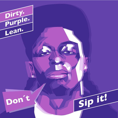 Don't Sip Lean Kunstdruck Rapper II - Yves Findling