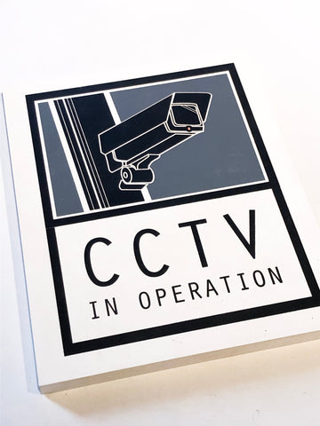 Signs large- CCTV, Unikat Siebdruck