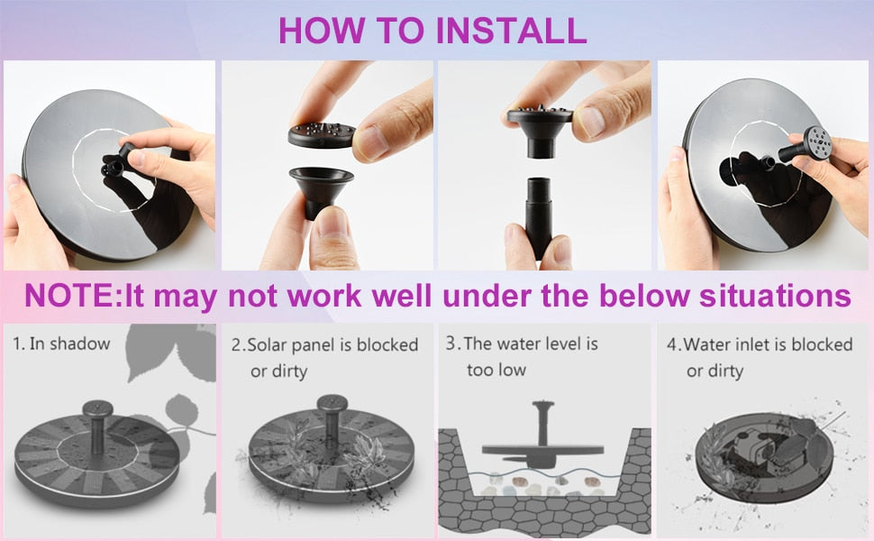 Solar Powered Bionic Fountain - MyLunaShop