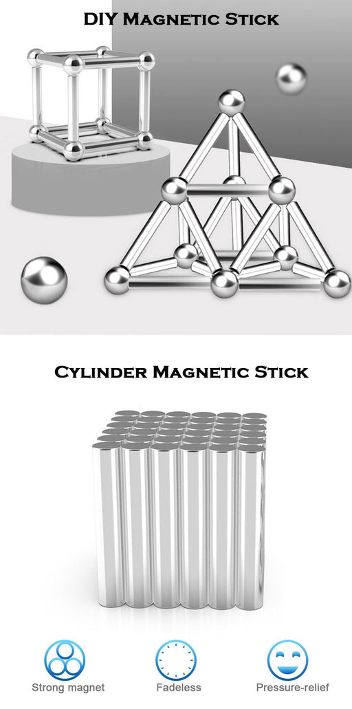 DIY Magnetic Sticks And Balls Game For The Family - MyLunaShop