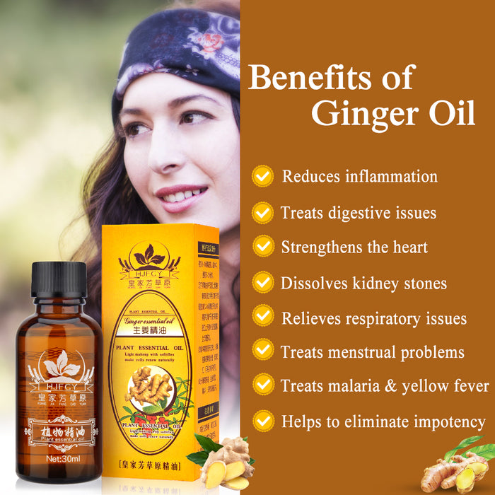 Lymphatic Drainage Ginger Oil - MyLunaShop