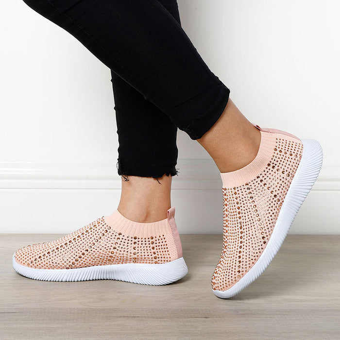 Crystal Breathable Mesh Sneakers - MyLunaShop