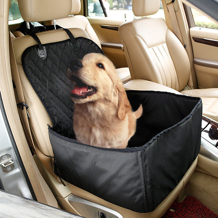 2 in 1 Car Front Pet Car Seat Cover & Waterproof Puppy Basket - MyLunaShop