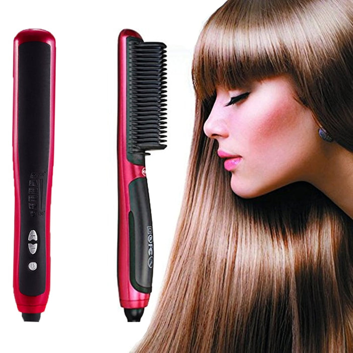 Hair Straightener Styler Brush - MyLunaShop