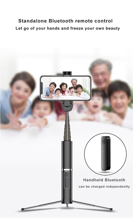 3 in 1 Wireless Bluetooth Selfie Stick (Compatible with iPhone&Andriod) - MyLunaShop