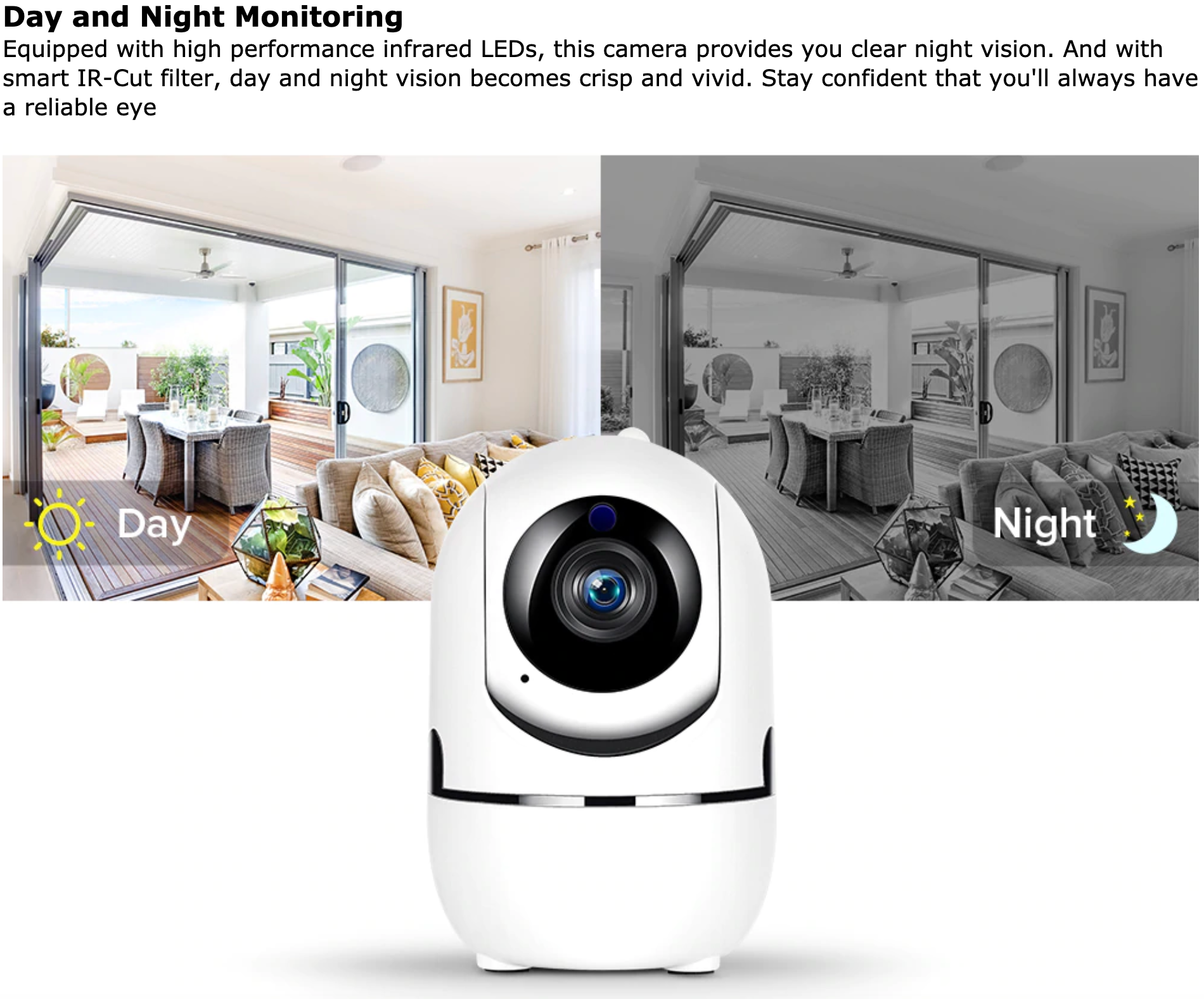 2224 Multifunctional Auto Tracking Wireless 1080P IP Camera Wifi Camera