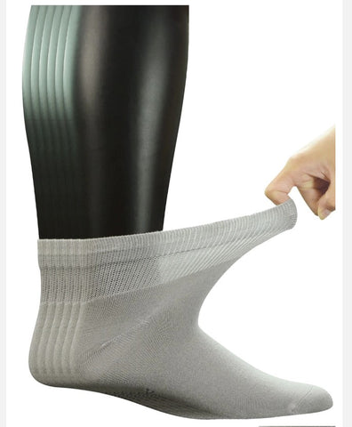 6 Pairs Men Large Seamless Toe Non-Binding Socks