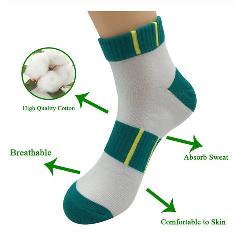 5 Pairs Small Men Running Compression Ankle Socks