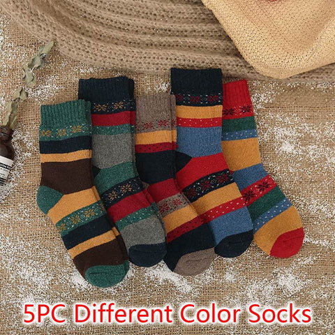 5 pairs Womens Winter Cotton Autumn Warm Socks