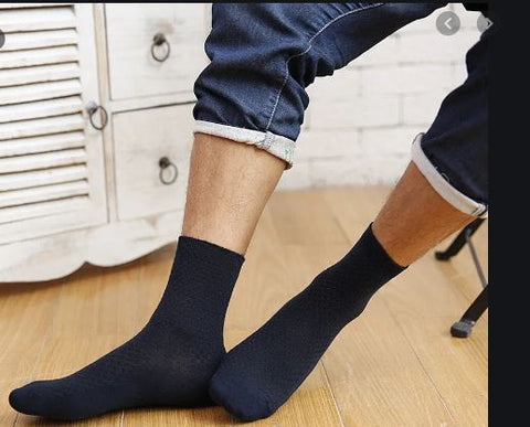 10 Pairs Mens Anti-Bacterial Compression Socks
