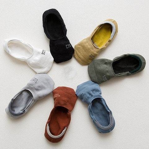 7 Pairs of Mens Invisible Weekly Socks