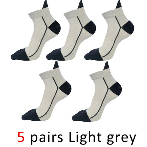 5 Pairs Mens Finger Toe Compression Ankle Socks