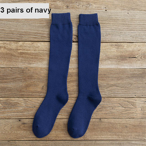 3 Pairs Mens Winter Compression Knee High Terry socks