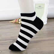 5 Pairs Womens Casual Comfortable Stripe Cotton Sock