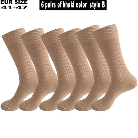 6 Pairs Mens Large long Business Compression Socks