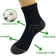 5 Pairs Mens Casual Compression Black Short Socks