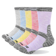 5 Pairs Womens Performance Athletic Crew Socks